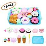 WESEEDOO Kind Spielzeug Pretend Food Play Kinder Küche Spielzeug Kuchen Spielzeug Donut EIS Essen Spiel Spielzeug Lernspielzeug für Kinder, Kinder und Kleinkind