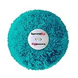 bommelME Wechselbommel aus Wolle mit Knopf Beanies und Anhänger, Farbe: Türkis