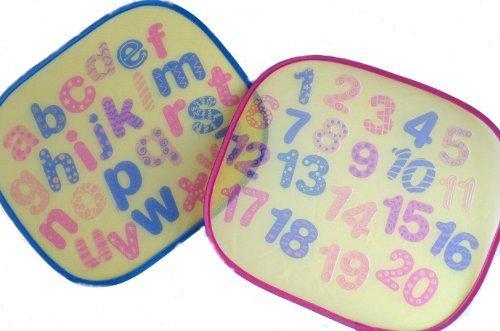2 imprimé Voiture Enfants Filtres Soleil ABC & ALPHABET