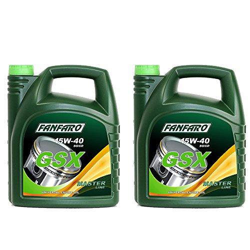 2 x 5L FANFARO GSX 15W-40 / Mineralisches Universal Motoröl