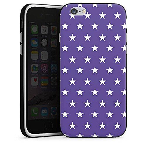 Apple iPhone 5s Housse Étui Protection Coque Petite étoile Rockabilly Lilas Housse en silicone noir / blanc