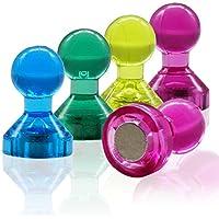 WINTEX 24 punaises magnetiques en 4 couleurs parfaits pour tableaux blancs, réfrigérateurs et les cartes   2 ans de garantie satisfaction   aimants de couleur, aimants pour tableau blanc