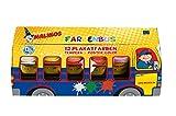 Malinos 300031 - Farben Bus mit 12x Tempera Plakatfarben