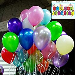 Themez Only Balloon Junction Metallic Plain Large Balloons For Party Decoration- Pack Of 100