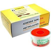 SFM Seide Heftpflaster auf Plastikschutzring in Plastikcover, 2.5cm x 5m (12St.) preisvergleich bei billige-tabletten.eu