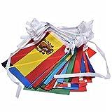 37YIMU 100 países banderas 82ft internacional banderas banderines bandera para decoraciones fiestas, inauguración, Juegos Olímpicos, barra, Clubs deportivos, escuela, estudios culturales y eventos más