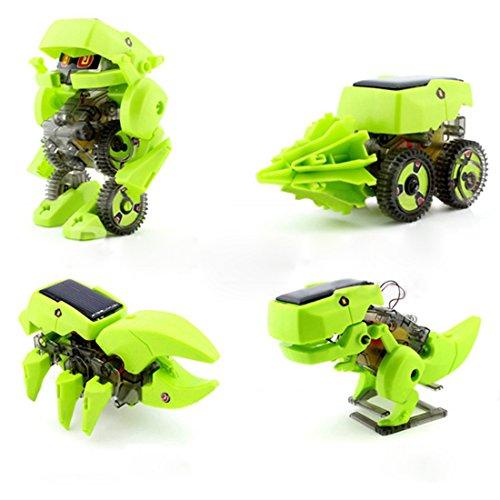 wortek Roboter Spielzeug für Kinder ab 8 Jahren Solar Robot 4 in 1 Kit DIY Baukasten zum Selber Bauen und Experimentieren Photovoltaik Robotik-Bausatz umweltfreundliches Toy solarbetrieben