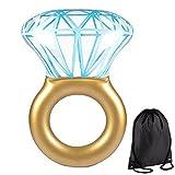 NWSS Diamante Gonfiabile Ring Anello Zattera Galleggiante Piscina Gigante Nuoto Diamanti (xxl)