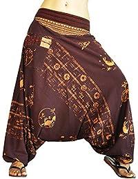 virblatt Haremshose mit Muster und traditionellen Webereien UNISEX Einheitsgröße S - L alternative Kleidung- Allesimwunderland