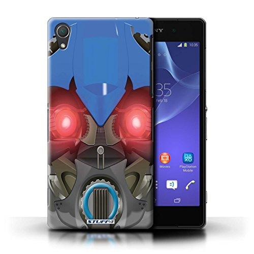 Kobalt® Imprimé Etui / Coque pour Sony Xperia Z2 / Opta-Bot Vert conception / Série Robots Bumble-Bot Bleu