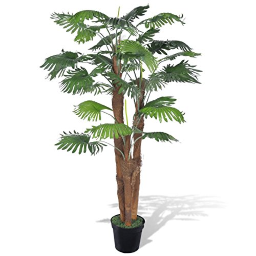 vidaXL Fächerpalme Kunstpalme Kunstpflanze Kunstbaum Palmenbaum künstliche Palme