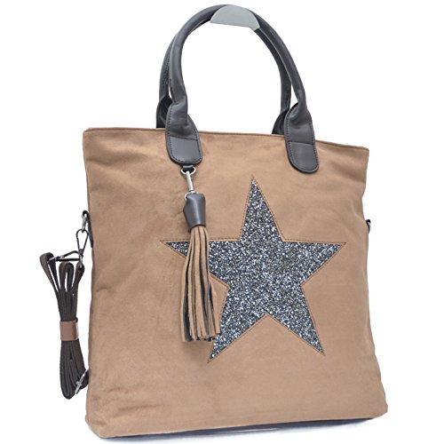Borsetta Da Donna Da Star Shopper Con La Tracolla Color Kaki