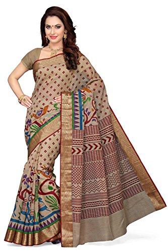Rani Saahiba Women's Cotton Saree (Skr1752_Red)
