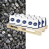 Halbe Palette Basaltsplitt Anthrazit 5-8 mm 20x25 kg Sack