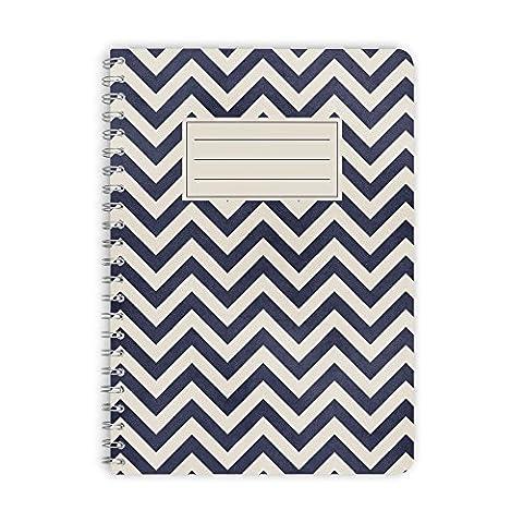 purepaper Notizblock | Notizbuch | Spiralblock 1007 BLUE ARROW, DIN A5 60 Blatt blanko