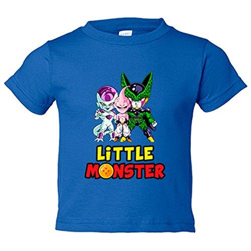 Camiseta niño Dragon Ball Litttle Monster Freezer Buu Cell - Azul Royal, 18-24 meses