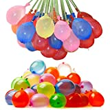 111 Water Balloons | Self Tying | 3 Bunches of 37 included | Rapid Fill Water Bombs | Summertime Water Fight Domination