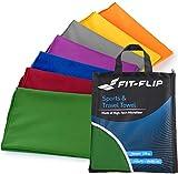 Fit-Flip Serviette Microfibre / 1 pièce 120x60cm + 1 Sac, Vert foncé