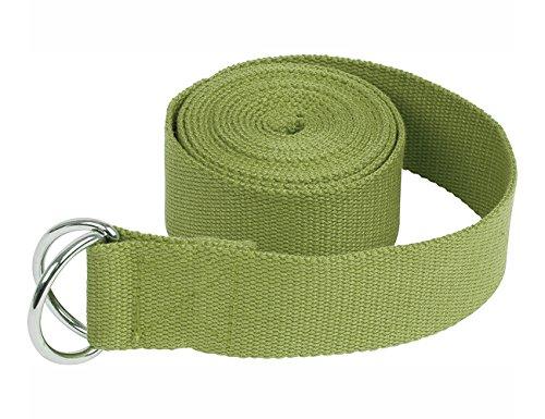 Ypser Ceintures de yoga en coton avec boucle en D pour l'exercice d'étirement-Super doux et durable 6ft 6 couleurs