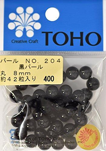TOHO runde Perle Aussendurchmesser von etwa 8 mm No.204 schwarz ueber 42 Monate Eingabe -