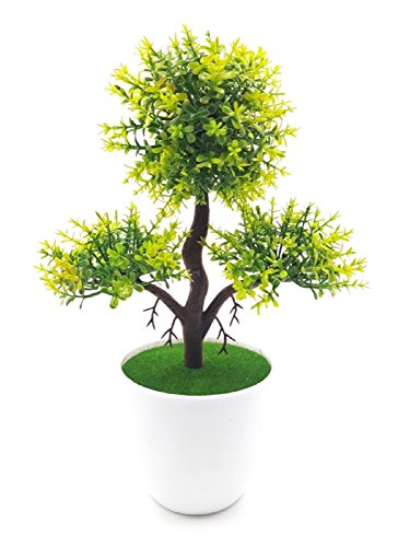 Bonsai Artificial Dwarf Tree ~ Artificial Plants With Pot And Grass Ideal...