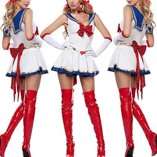 Sexy Lady White Moon Mars Sailor Moon Mercury -