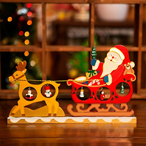 GEXING GEXING Christmas Decorations Christmas Deer Car Ornaments Creative Wooden Desktop Decorative Gifts