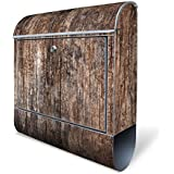 banjado - Designbriefkasten Bild Postkasten Briefkästen Mailbox mit Motiv: Altes Holz