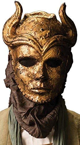 Erwachsene Deluxe Sons of The Harpyie Game of Thrones Valyrian Assassin Halloween Horror Cosplay Konvention mit Kapuze Profi-Qualität Theater Kostüm Kleid Outfit Maske