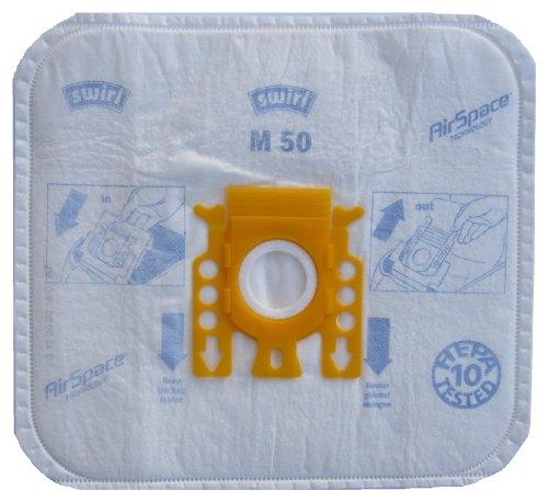 12-Beutel-Swirl-M-50-MicroPor-AirSpace-M50-3-Filter-lose-verpackt-Staubsaugerbeutel