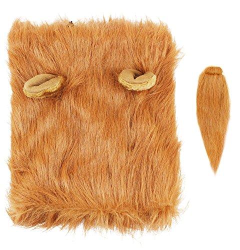 Newin Star Lion Mähne Kostüm für Pet - Pet Perücke Kleidung für Halloween Party