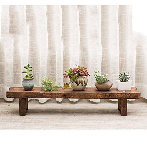 Pflanzenstandplatz Massivholz-Leiter-Blumen-Stand passend für Wohnzimmer-Balkon/Größe: Wie das Bild zeigt (größe : H30CM)