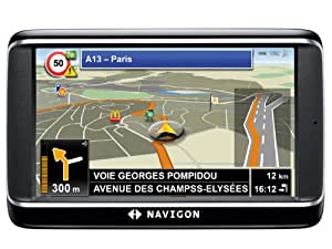 NAVIGON 40 Premium Navigationssystem (10,9cm (4,3 Zoll) Display, Europa 43, TMC, Bluetooth2.0, One Click Menu, Aktiver Fahrspurassistent, TTS)