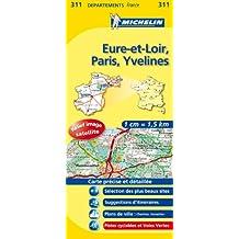 Carte DPARTEMENTS Eure-et-Loir, Paris, Yvelines