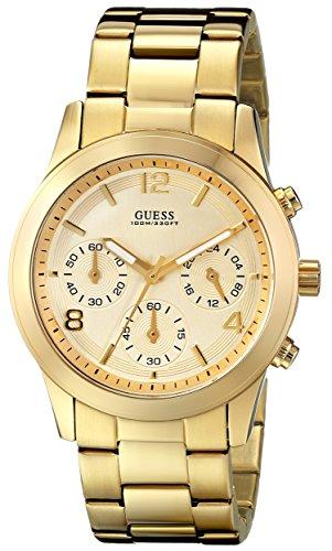 Guess Women's 39mm Chronograph Gold Steel Bracelet & Case Date Watch U13578L1