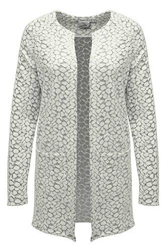 Vero Moda Damen Strickjacke Strickmantel LS Cardigan (XL, Antique White)