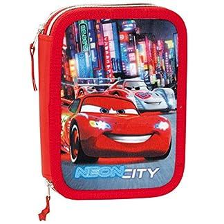 Cars – Plumier 12 doble, color azul y rojo (Montichelvo Industrial 21392)
