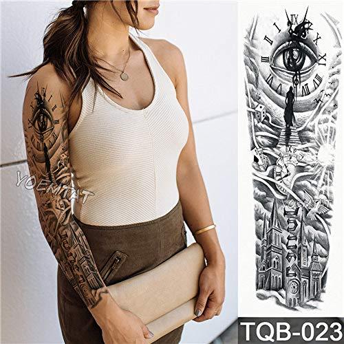 Tzxdbh 3pcs - Patrón Nuevo Tatuaje Etiqueta Peony
