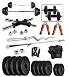 #5: SPORTO ©30KG Weight Plates,5ft Rod,3ft Rod,2 D.RODS Home gym dumbell set.