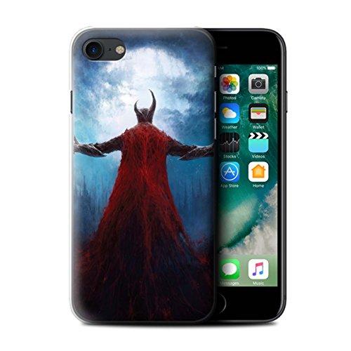 Offiziell Chris Cold Hülle / Case für Apple iPhone 7 / Gehörnter Dämon Muster / Dämonisches Tier Kollektion Dunkelste Stunde
