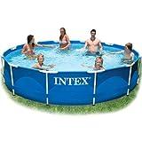 Metal-Frame Pool ca. 366x76 cm, leichter Aufbau, sehr stabil,inkl. DVD
