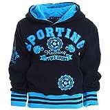 Kinder Hoodie Pullover Jacke Kapuzenpullover Sweatshirt Kapuzen Sweatjacke H2554, Farbe:Schwarz;Größe:116