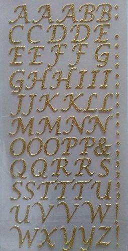 """Schöne moderne""""Alphabet-Stickers gold"""" Buchstaben Aufkleber für den Alltag"""