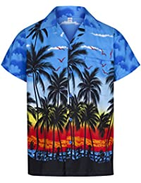 36a0c24c4 Mens Hawaiian Shirt Short Sleeve STAG Beach Holiday Palm Tree Fancy Dress  Hawaii - All Sizes