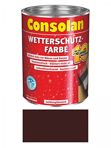Consolan Wetterschutzfarbe 750 ml, dunkelbraun Nr. 205
