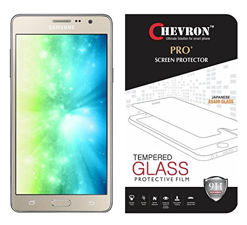 Chevron Premium Tempered Glass Screen Protector Skin Cover for Samsung Galaxy On5 Pro  available at amazon for Rs.99