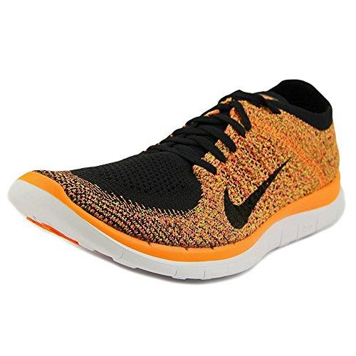 Nike Free 4.0 Flyknit Men Laufschuhe black-black-total orange-hyper punch - 45