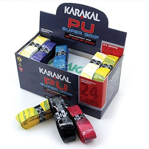 Preisvergleich Produktbild KARAKAL PU Super-Grips Box Of 24 Grip Racket MULTI Colr