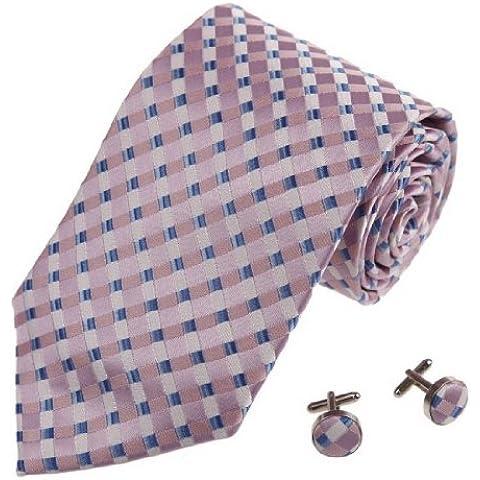 CID-035 multicolore Matrimonio Cravatte Uomini scacchi Affari