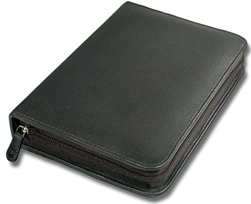 Taschenapotheke für 60 Gläser feines Rindnappa-Leder schwarz